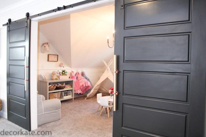 black sliding doors