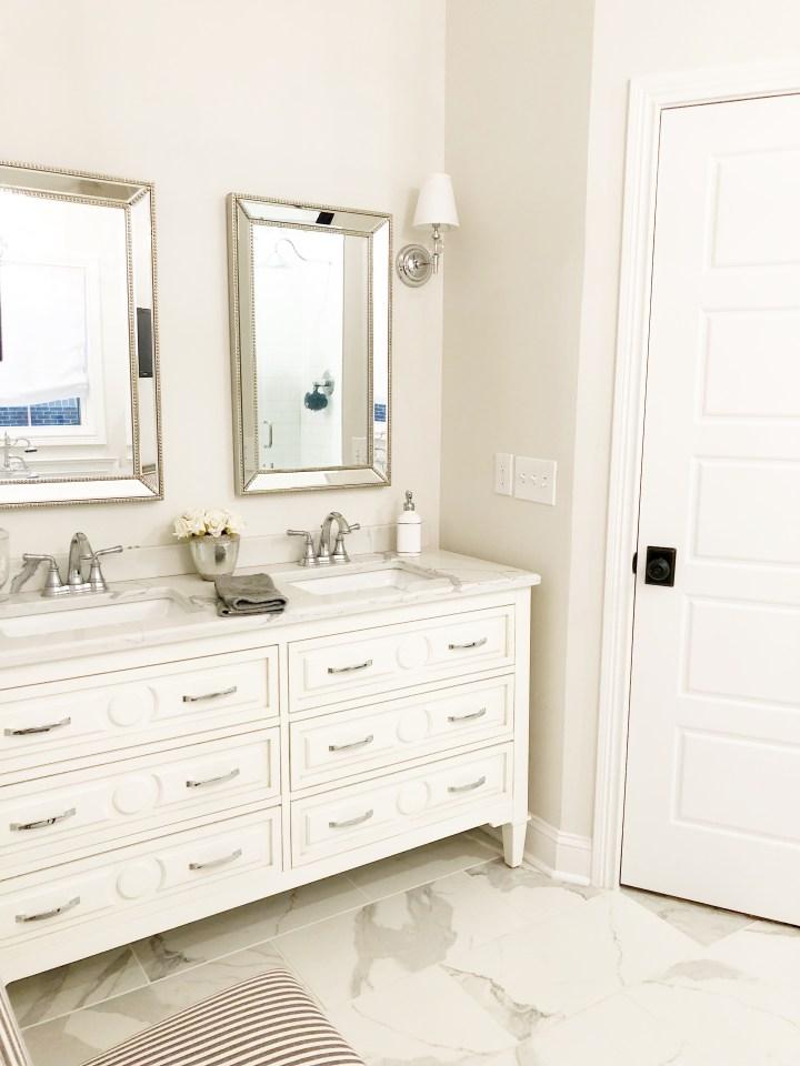 master bathroom quart countertops