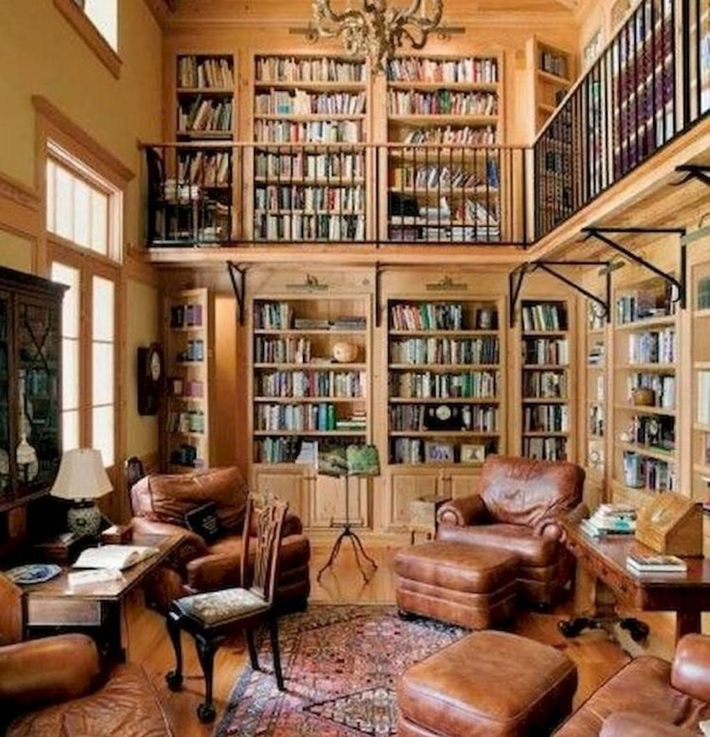 Smart Library Design Ideas For Home To Add To Your List 33