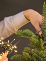 Pretty Space Decoration Ideas With Christmas Tree Lights 22