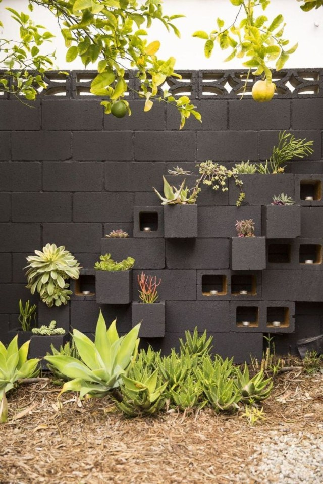 Stylish Garden Design Ideas With Cinder Block To Try 13