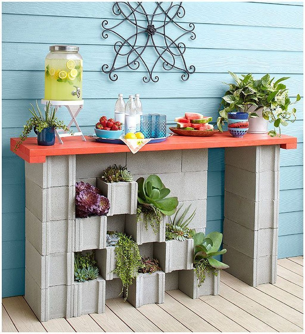 Stylish Garden Design Ideas With Cinder Block To Try 37