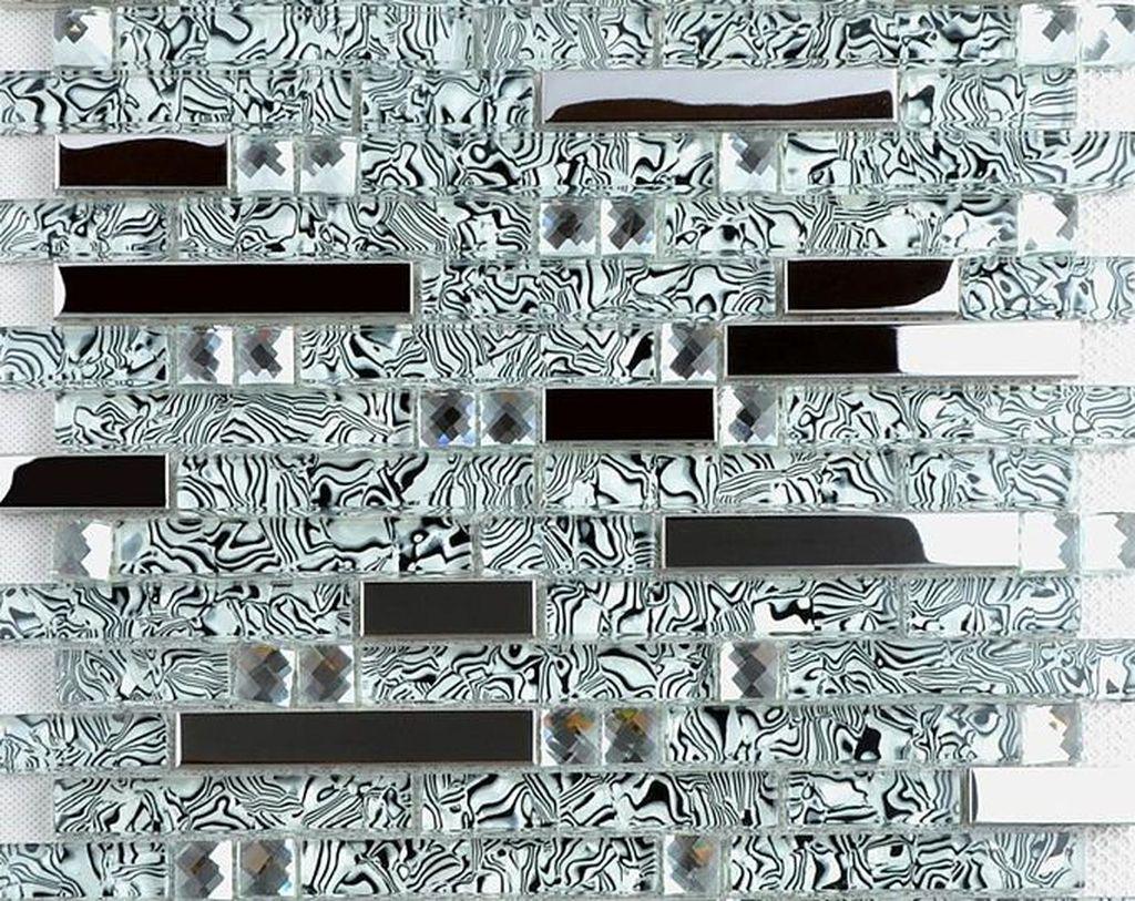 Superb Glitter Kitchen Tiles Design Ideas To Try Nowaday 05