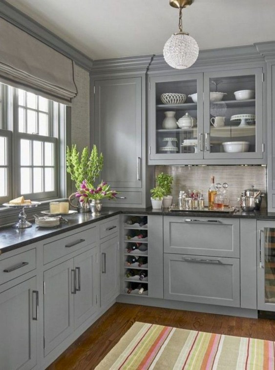 Adorable Kitchen Cabinet Ideas That Looks Neat To Try 37