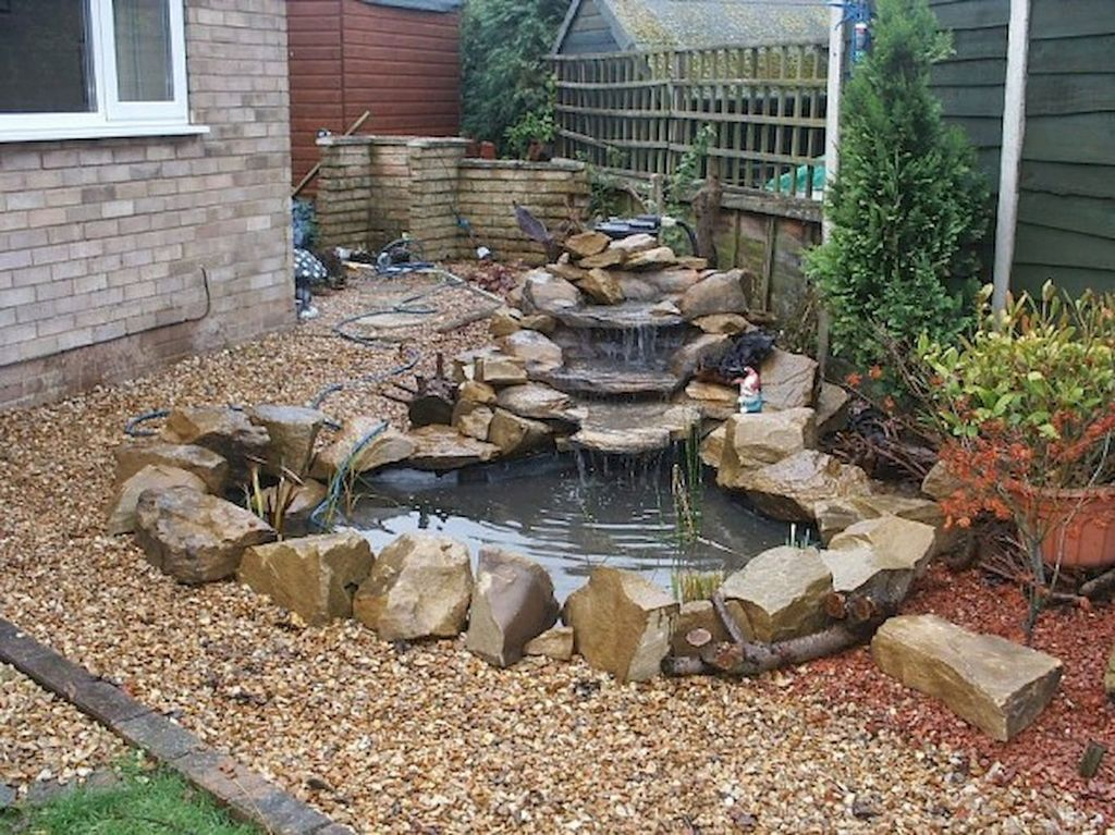 Creative Backyard Ponds Ideas With Waterfalls To Try 02