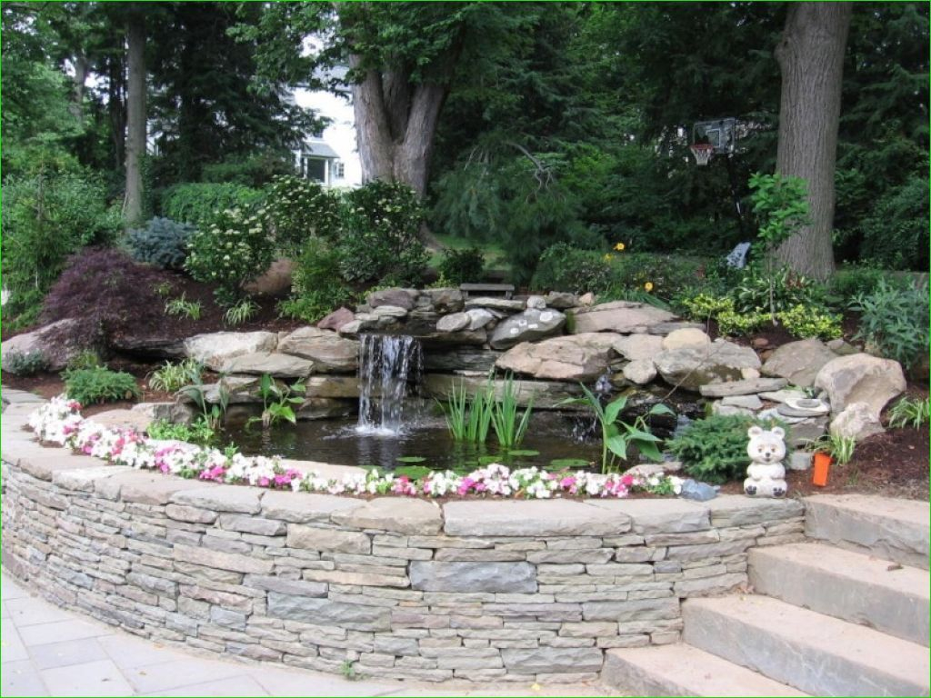 Creative Backyard Ponds Ideas With Waterfalls To Try 07