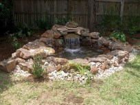 Creative Backyard Ponds Ideas With Waterfalls To Try 12