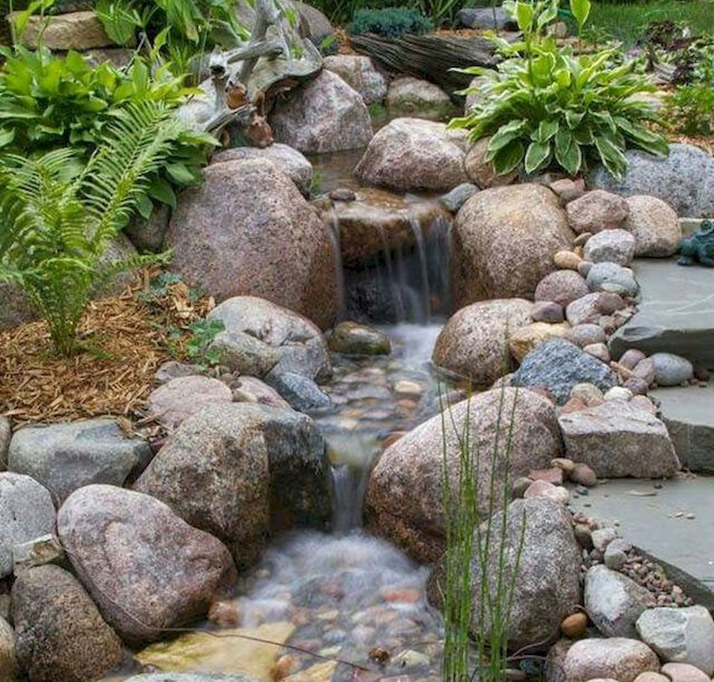 Creative Backyard Ponds Ideas With Waterfalls To Try 26
