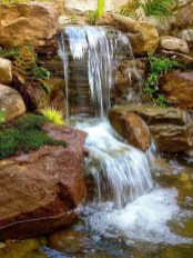 Creative Backyard Ponds Ideas With Waterfalls To Try 30