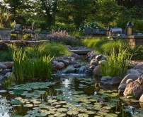 Creative Backyard Ponds Ideas With Waterfalls To Try 33