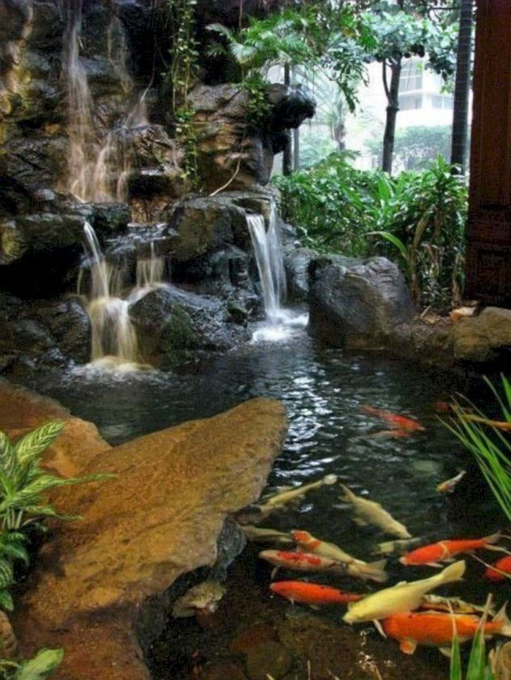 Creative Backyard Ponds Ideas With Waterfalls To Try 36