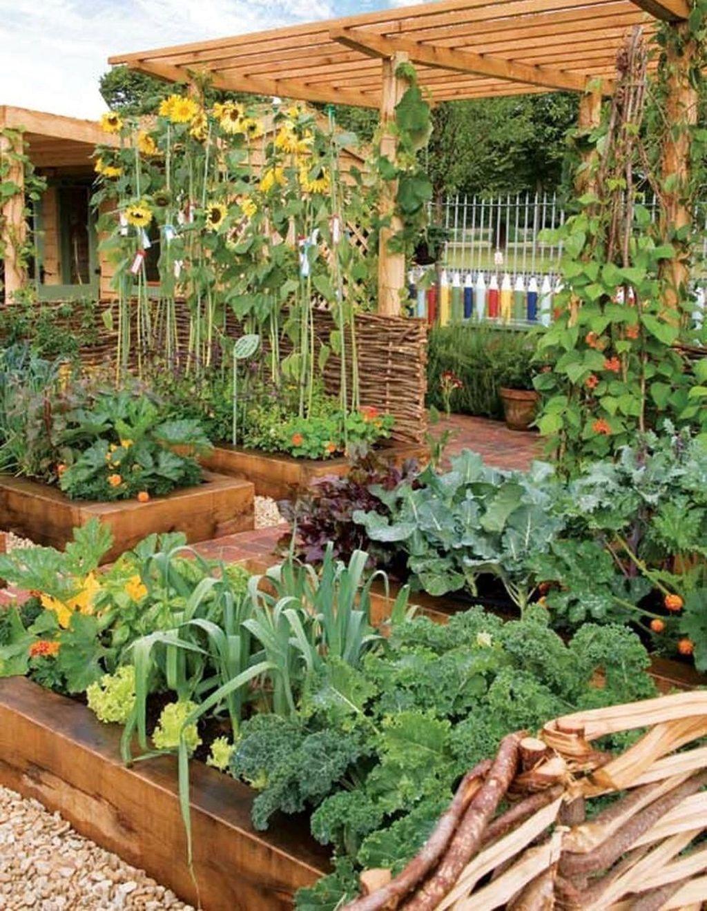 Lovely Vegetable Garden Decoration Ideas For You 07