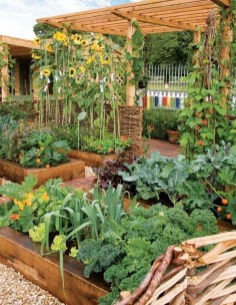 Lovely Vegetable Garden Decoration Ideas For You 07