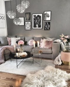 Luxury Living Room Design Ideas With Gray Wall Color 34