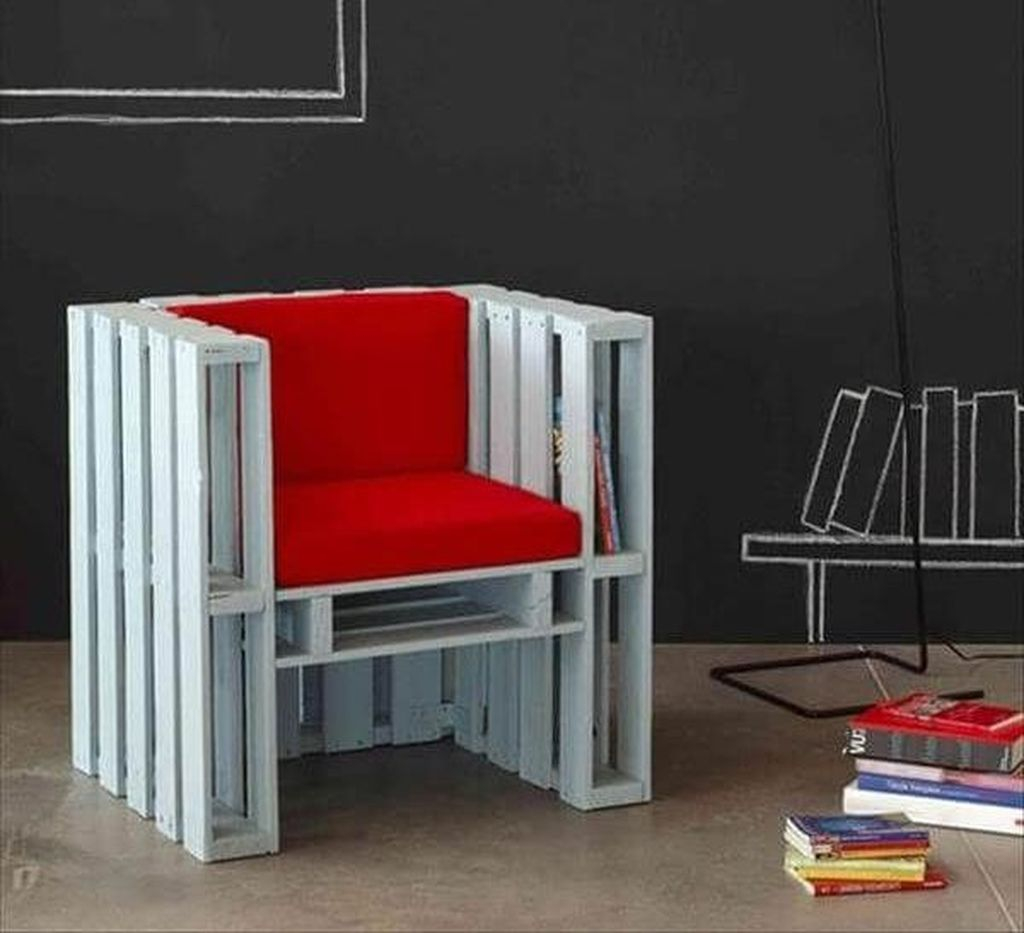 Popular Diy Chair Pallet Design Ideas That You Can Try 25