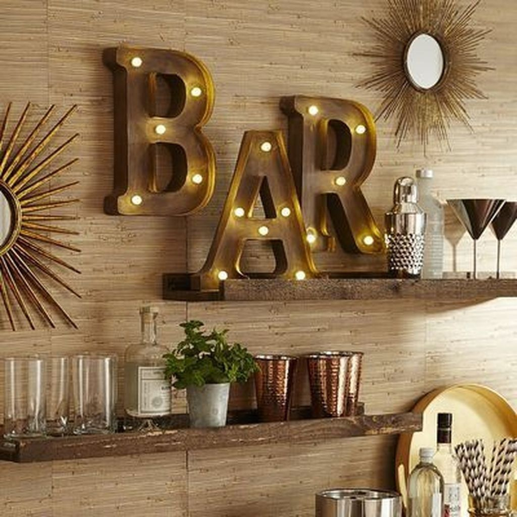 Trendy Pallet Mini Bar Design Ideas To Try 10
