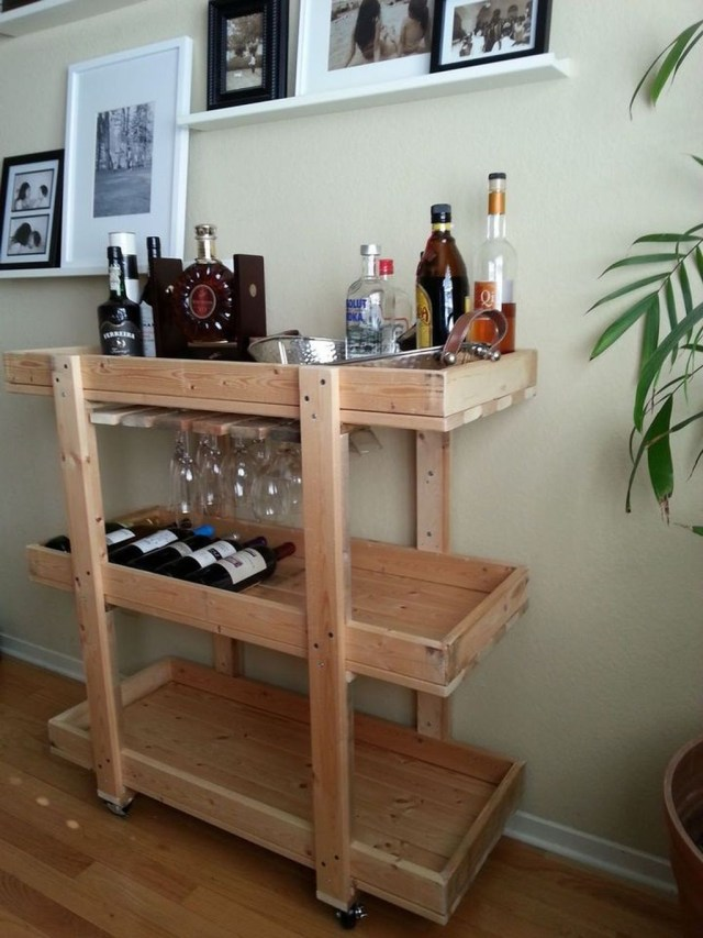 Trendy Pallet Mini Bar Design Ideas To Try 13