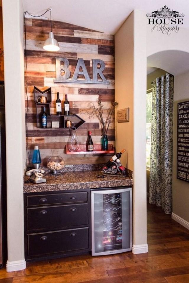 Trendy Pallet Mini Bar Design Ideas To Try 23