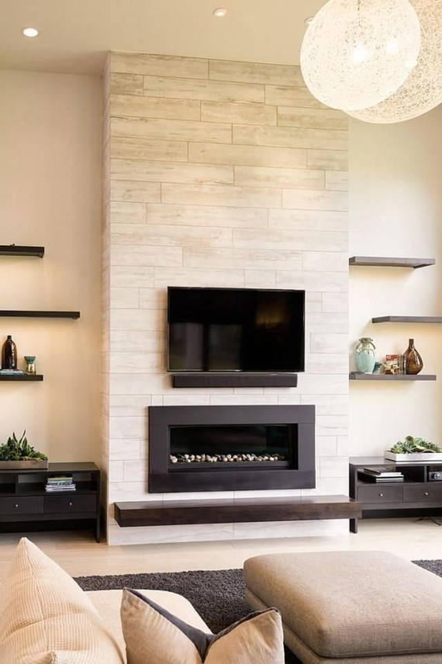 Luxury Clad Cover Fireplace Ideas To Try 12