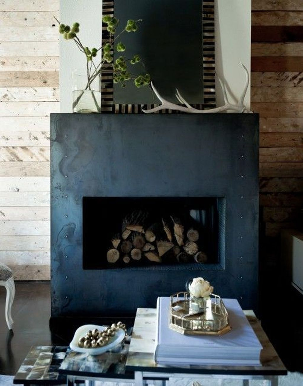 Luxury Clad Cover Fireplace Ideas To Try 22