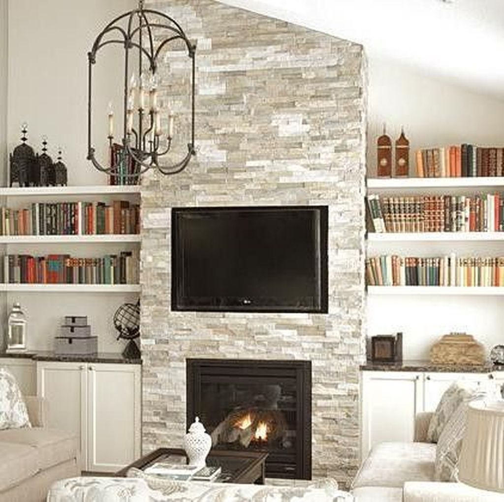 Luxury Clad Cover Fireplace Ideas To Try 37