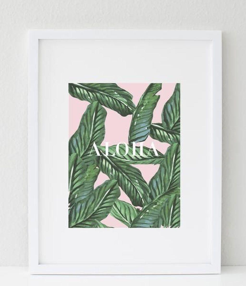 Splendid Tropical Leaf Decor Ideas For Home Design 38