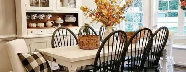 Adorable Fall Farmhouse Dining Room Decor Ideas 12