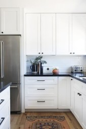 Fancy White Kitchen Cabinets Ideas To Try Asap 07