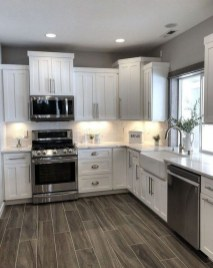 Fancy White Kitchen Cabinets Ideas To Try Asap 35