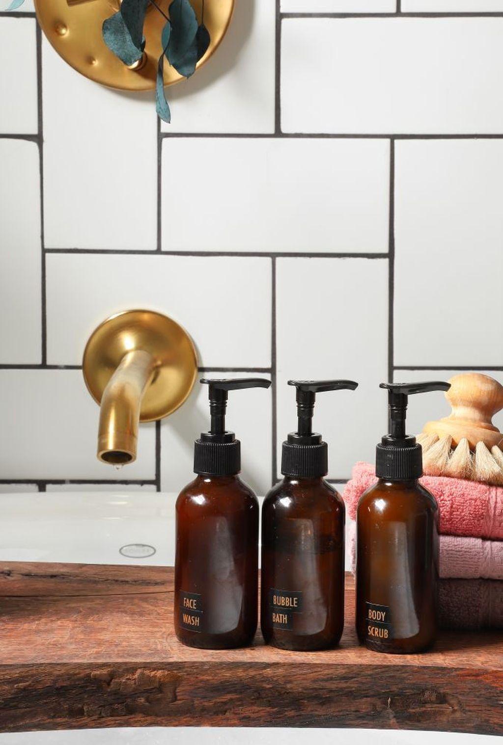 Affordable Diy Organization Bathroom Design Ideas For Bottle And Towel Labels06