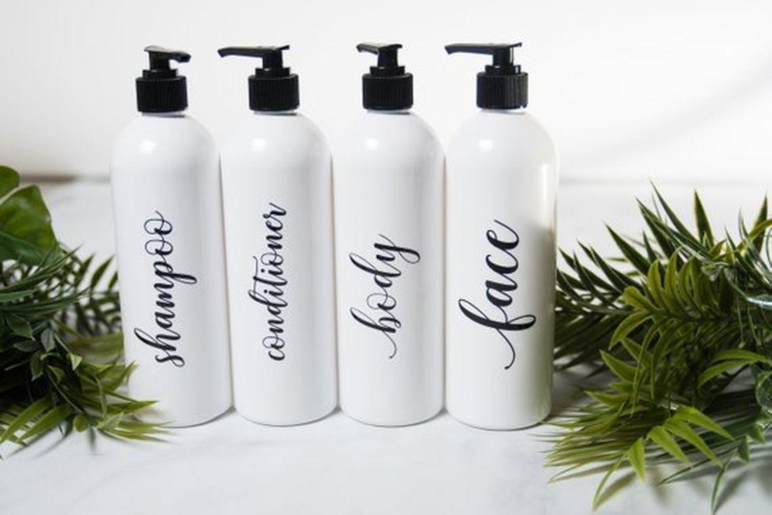 Affordable Diy Organization Bathroom Design Ideas For Bottle And Towel Labels13