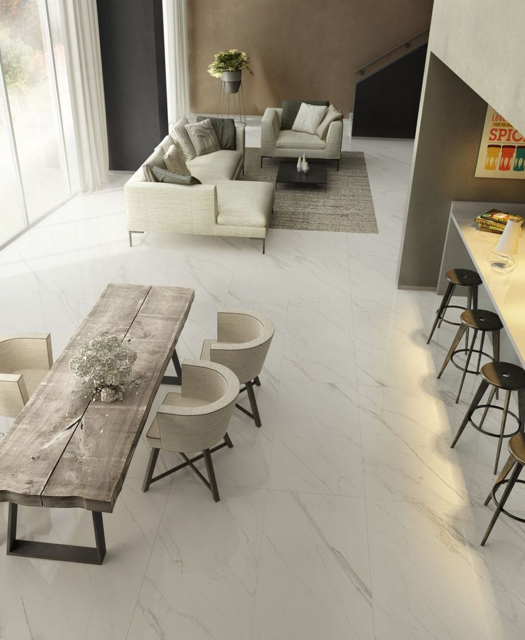 Affordable Marble Tiles Design Ideas In The Wooden Floor02