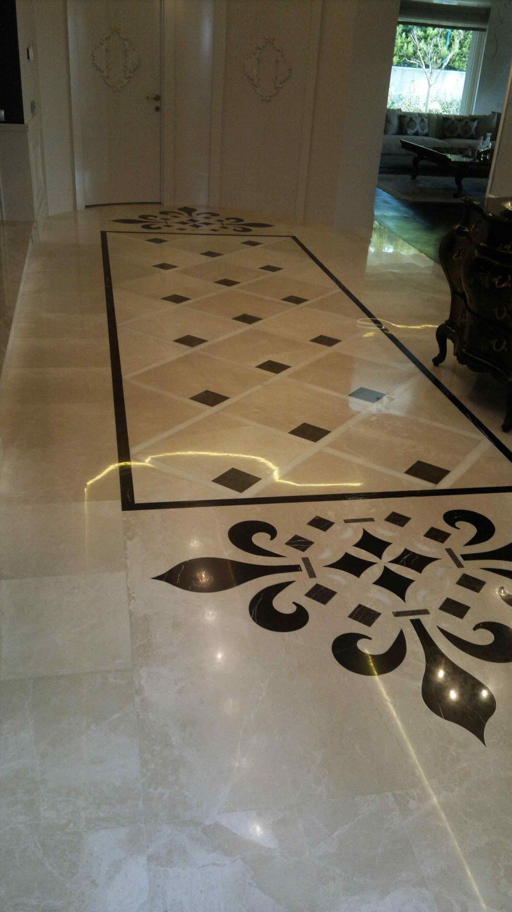 Affordable Marble Tiles Design Ideas In The Wooden Floor12