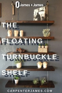 Awesome Diy Turnbuckle Shelf Ideas To Beautify Interior Decor14