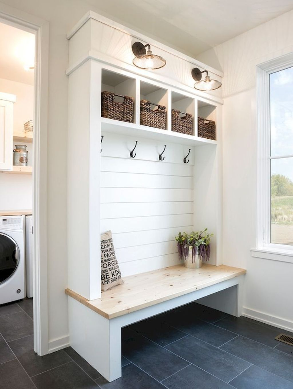 Delightful Mudroom Storage Design Ideas To Have Soon36
