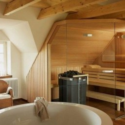 Excellent Palette Sauna Room Design Ideas For Winter Decoration To Try21