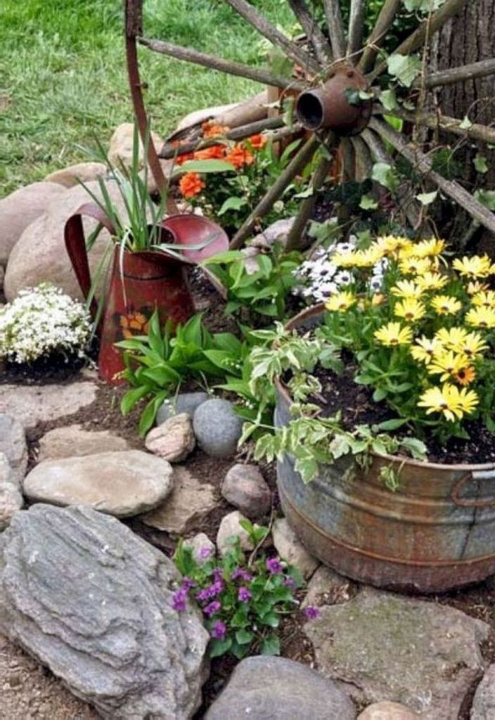 Impressive Summer Planter Design Ideas For Front Yard Decoration 05