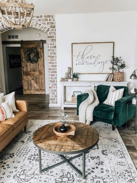 Popular Farmhouse Living Room Makeover Decor Ideas To Have Now 16