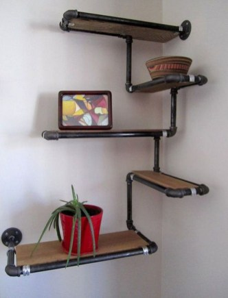 Rustic Diy Industrial Pipe Shelves Design Ideas For You 12
