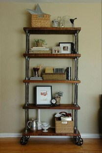 Rustic Diy Industrial Pipe Shelves Design Ideas For You 30