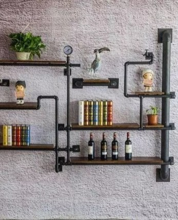 Rustic Diy Industrial Pipe Shelves Design Ideas For You 31