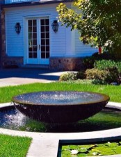 Affordable Small Front Garden Design Ideas With Fountain To Try 21