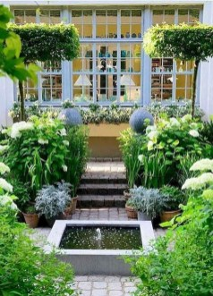 Affordable Small Front Garden Design Ideas With Fountain To Try 29