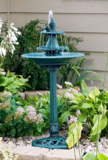 Affordable Small Front Garden Design Ideas With Fountain To Try 32