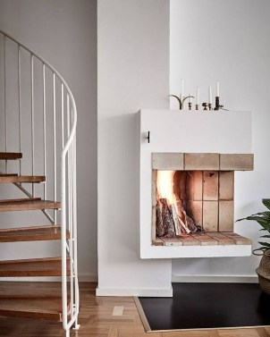 Cool Scandinavian Fireplace Design Ideas To Amaze Your Guests 16
