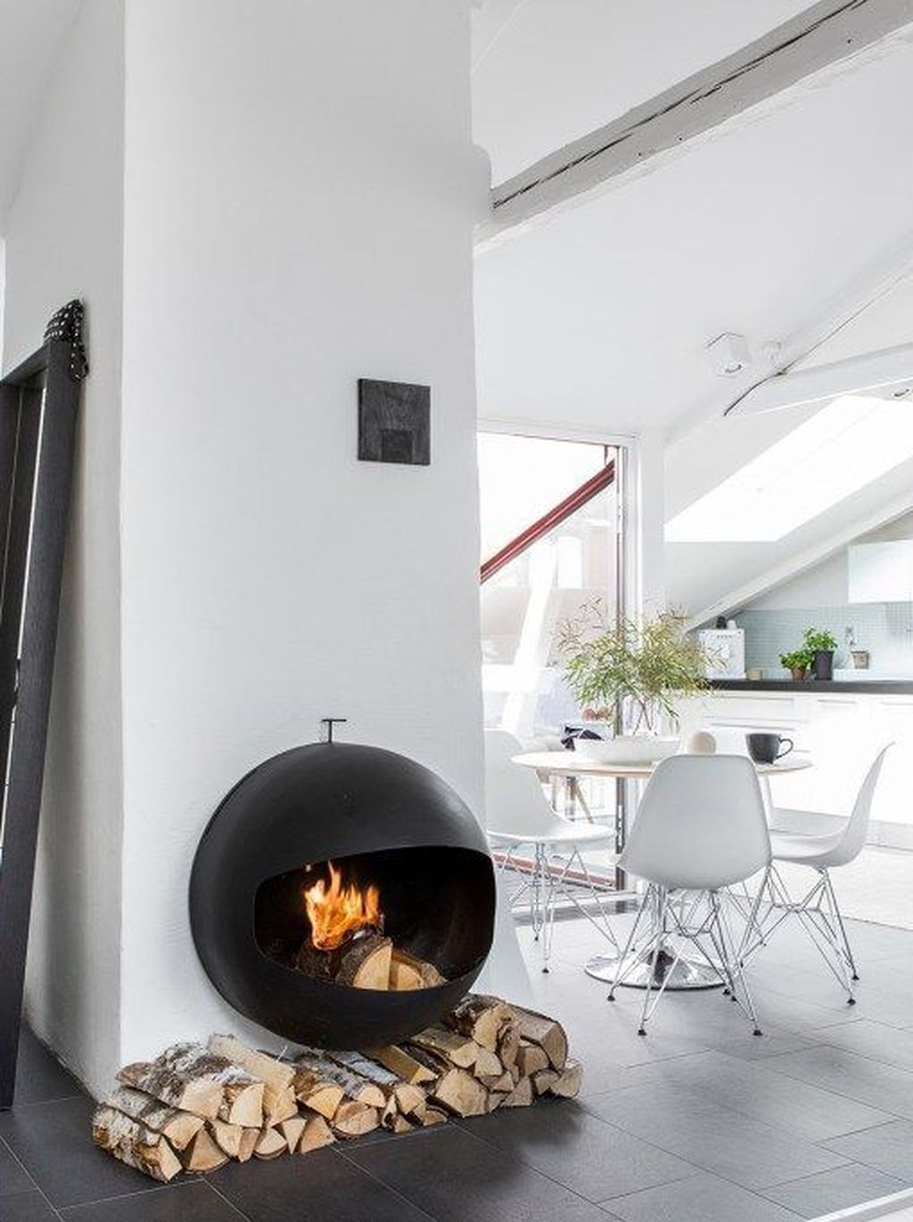 Cool Scandinavian Fireplace Design Ideas To Amaze Your Guests 35