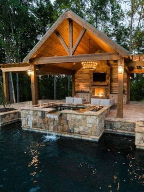 Cute Cabana Swimming Pool Design Ideas That Looks Charming 15