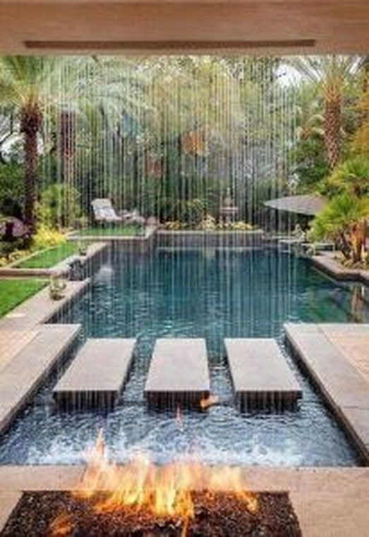 Cute Cabana Swimming Pool Design Ideas That Looks Charming 29