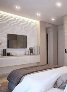 Enjoying Bedroom Design Ideas With Wall Tv To Try 05