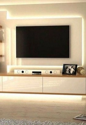Enjoying Bedroom Design Ideas With Wall Tv To Try 17